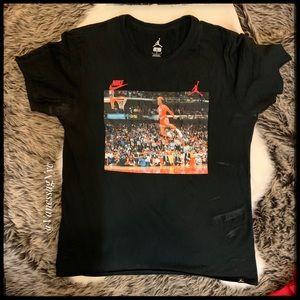 Nike Jordan T-Shirt Black Sz Large